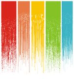 Multicolor abstract grunge drips. Illustration royalty free illustration