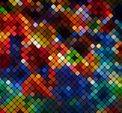 Multicolor abstract light disco background pixel mosaic v Royalty Free Stock Photography