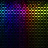 Multicolor abstract lights disco background. Star pixel mosaic vector. Royalty Free Stock Photo