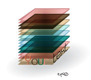 Multicolor abstract logo rectangle. Stock Image