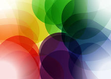 Multicolor abstract shapes graphic illustration Stock Photos