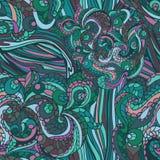 Multicolor Abstrakcjonistycznego etnicznego zawijasa bezszwowy wzór Zdjęcia Royalty Free