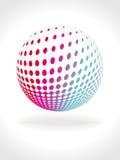 multicolor abstrakt boll 3d Royaltyfria Bilder