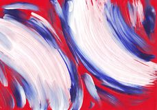 Multicolor acrylic paint texture abstract drawing Stock Photos