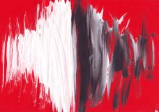 Multicolor acrylic paint texture abstract drawing Royalty Free Stock Photos