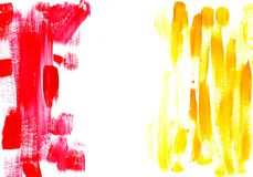 Multicolor acrylic paint texture abstract drawing Royalty Free Stock Image
