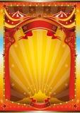 multicolor affisch för cirkus stock illustrationer