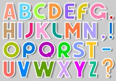 Multicolor Alphabet Stickers Royalty Free Stock Image