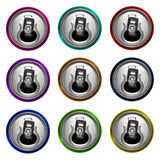 Multicolor aluminium open can isolated on white background Stock Images