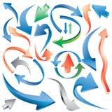 Multicolor arrows Stock Photo