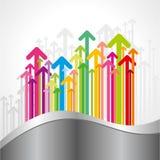Multicolor arrows set Stock Photo