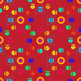 Multicolor attraction ferris wheel seamless pattern Stock Photography