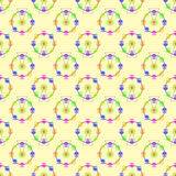 Multicolor attraction ferris wheel seamless pattern Royalty Free Stock Image