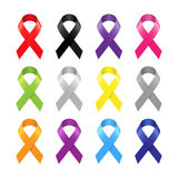 Multicolor awareness ribbon. Royalty Free Stock Photo