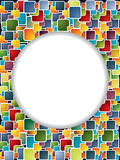 Multicolor backdrop with circle and shadow Stock Image
