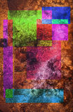 Multicolor background. Multicolor textured background derived from water damaged slide Vector Illustration