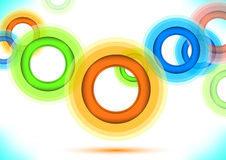 Multicolor background - colorful rings. Clip-art vector illustration