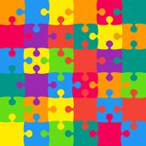 36 Multicolor Background Puzzle. Jigsaw. 36 Multicolor Background Puzzle. Jigsaw Puzzle Banner. Vector Illustration Template Shape Abstract Background. Puzzle stock illustration