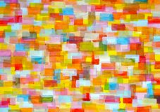 Multicolor background from rounded rectangles. Background. Multicolor  folded rounded rectangles. Photograph of artistic painting in acrylic painting on Vector Illustration