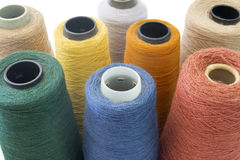 Multicolor background from threads isolated Royalty Free Stock Images