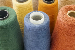 Multicolor background from threads Stock Photos