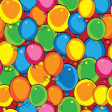 Multicolor balloon of seamless pattern Royalty Free Stock Photos