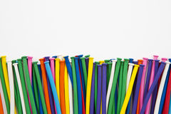 Multicolor balloon tube. Textures background stock photography