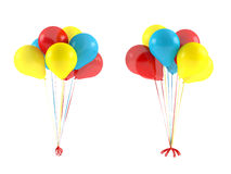 Multicolor balloons isolated. Royalty Free Stock Images