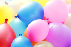 Multicolor balloons. Lots of multicolor balloons - party time stock photo