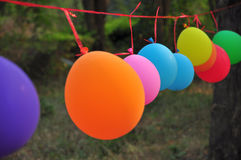 Multicolor balloons prapared for games Stock Image