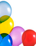 Multicolor balloons on white background Royalty Free Stock Photo