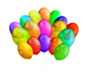 Multicolor balloons on white background Royalty Free Stock Photography