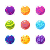 Multicolor Balls Set Royalty Free Stock Photography
