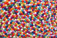 Multicolor Balls of Wool Stock Photo