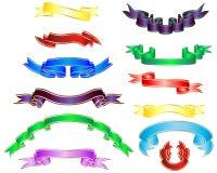 multicolor band vektor illustrationer
