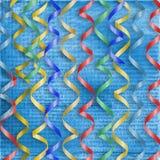 multicolor banderoller för kortferie till Arkivbilder