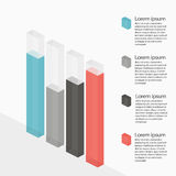 Multicolor bar chart with transparency Royalty Free Stock Photography
