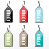 Multicolor barcode tags Stock Photography