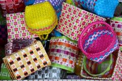 Multicolor basket Stock Images