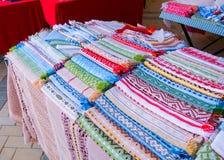 Multicolor bawełniani ręczniki obraz royalty free
