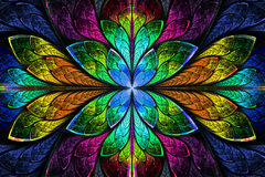 Free Multicolor Beautiful Fractal Pattern. Computer Generated Graphic Royalty Free Stock Photography - 37665347
