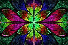 Multicolor beautiful fractal pattern. Computer generated graphic Royalty Free Stock Photography