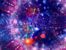 Multicolor blue red abstract background Stock Photo