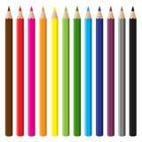 Multicolor blyertspennaset Royaltyfri Bild