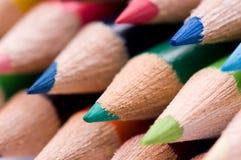 multicolor blyertspennor Royaltyfri Bild