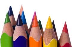 multicolor blyertspennor Royaltyfri Fotografi
