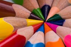 multicolor blyertspennor Royaltyfria Foton