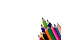 multicolor blyertspennor Arkivbild