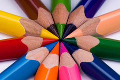 multicolor blyertspennor Arkivfoton