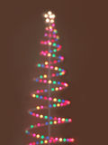 Multicolor bokeh christmas lights Royalty Free Stock Images